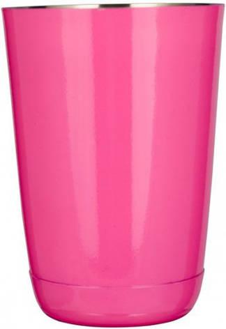 """Шейкер """"Бостон"""" нержавеющий круглый мини розового цвета V 400 мл (шт), фото 2"""
