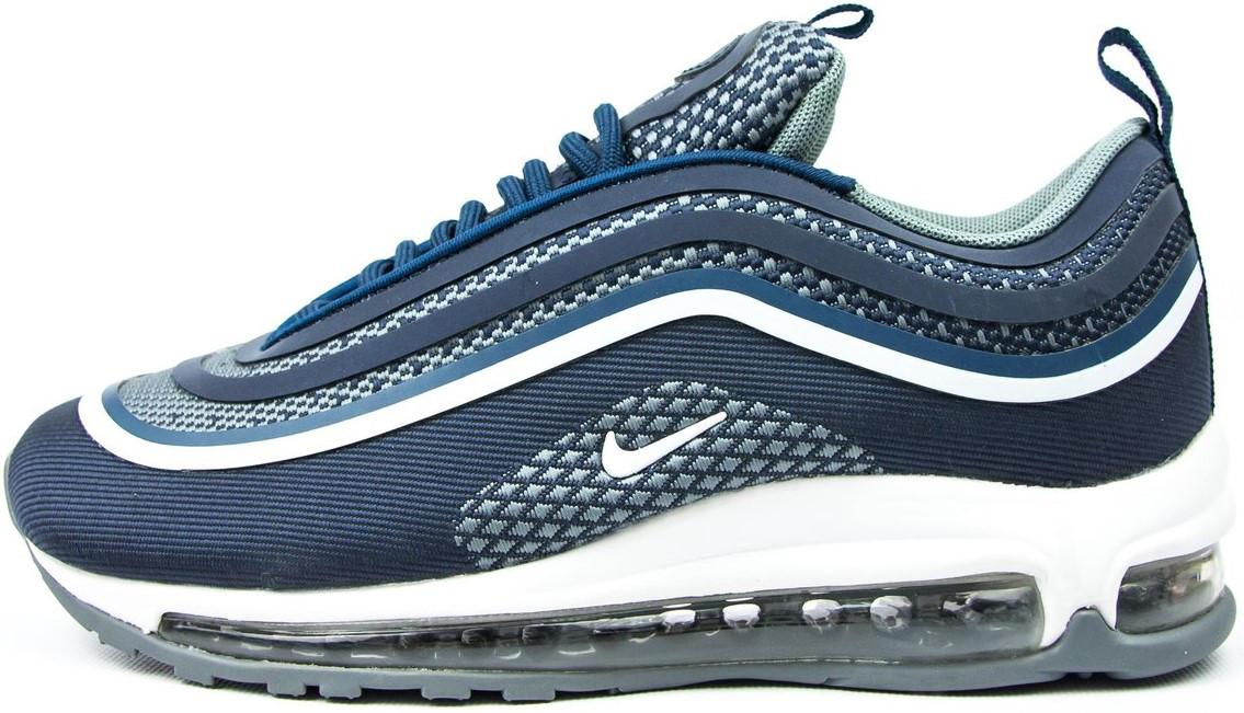 "Женские кроссовки Nike Air Max 97 ""Blue/White"" (Найк Аир Макс) синие"