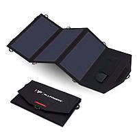 Зарядное устройство на солнечных панелях Allpowers AP-SP18V21W для телефона, ноутбука.