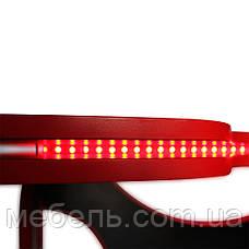 Компьютерный стол с тумбой  Barsky HG-05/LED/CUP-05/ПК-01 с подъемным механизмом, геймерский стол, фото 3
