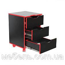 Компьютерный стол с тумбой Barsky Game RED LED HG-05/CUP-05/ПК-01, фото 3