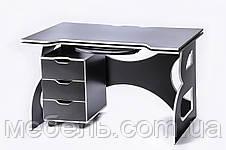 Компьютерный стол с тумбой Barsky Game WHITE LED HG-06/CUP-06/ПК-01, фото 2