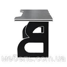 Компьютерный стол с тумбой Barsky Game WHITE LED HG-06/CUP-06/ПК-01, фото 3