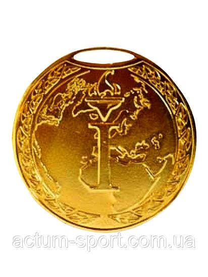 Медаль наградная 50 мм золото