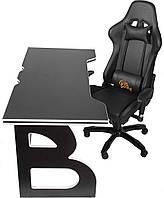 Мебель для работы дома геймерская станция Barsky Homework Game Black/White HG-06/SD-09