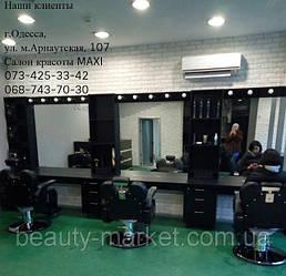 Парикмахерское кресло barber Elite; Стойка администратора Cardinal;