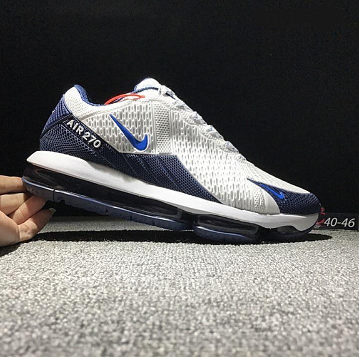 Распродажа размеров! мужские кроссовки Nike Air Max 270 White Blue 9176e6e8f4add