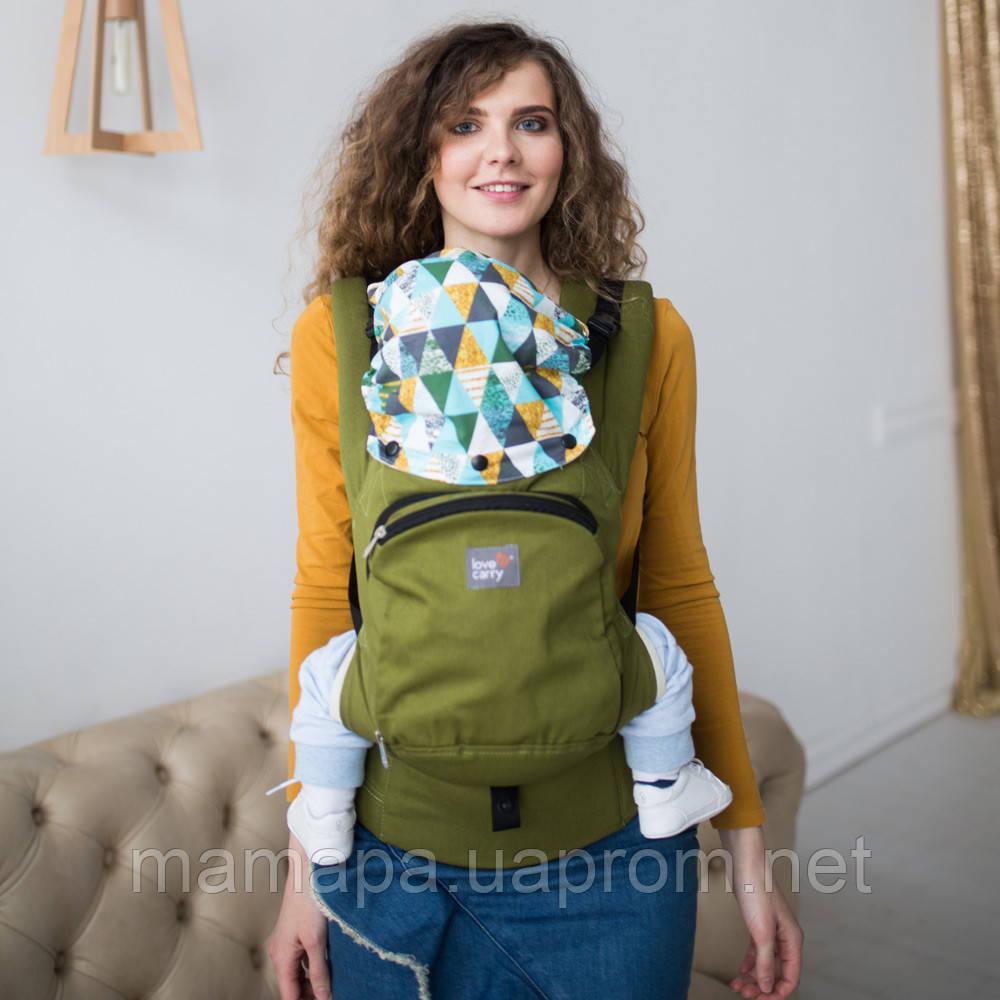 Эрго рюкзак Love & Carry AIR — ОЛИВА бесплатная доставка новой почтой, фото 1