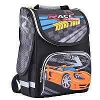 Ранец (рюкзак) - каркасный школьныйдля мальчика - черный Машина, PG-11 Race injection, Smart 554559