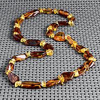 Бурштин самородки поліровані, намисто, 431БСЯ, фото 1