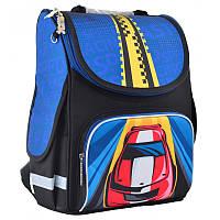 Ранец (рюкзак) - каркасный школьныйдля мальчика - Машина черно-синий, PG-11 Car, Smart 55454