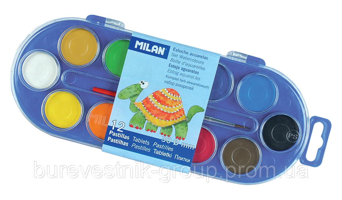 Сухие акварельные краски Milan (ml.80011) 12цв.