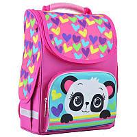 Ранець (рюкзак) - каркасный школьныйдля девочки розовый - Панда, PG-11 Panda, размер 34*26*14, 554507