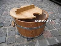 Запарник для веников дубовый 20л, круглая форма