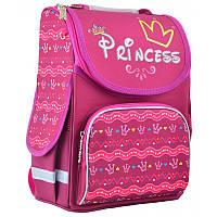 Ранець (рюкзак) - каркасный школьныйдля девочки розовый - Принцесса, PG-11 Princess, размер 34*26*14, 554436