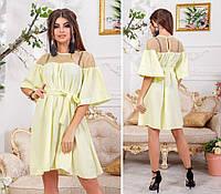 Платье с сеткой в расцветках 33944, фото 1