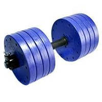 Гантель 25 кг разборная фиолет. металл/пластик