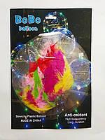 Прозрачный шар с перьями BOBO. В упак. 2 шт, фото 1