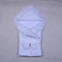 """Нарядный конверт-одеяло """"Волшебство"""", белый, лето, фото 1"""