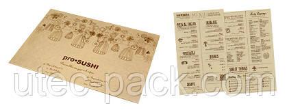 Бумажные сеты для ресторанов, кафе, порезка листов бумаги на форматы