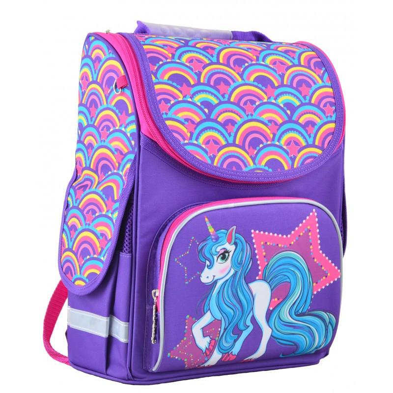 aa2029e3ff8b Ранец (рюкзак) - каркасный школьный для девочки фиолетовый - Пони, PG-11