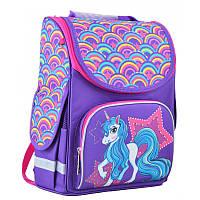Ранец (рюкзак) - каркасный школьный для девочки фиолетовый - Пони, PG-11 Unicorn, Smart 554451