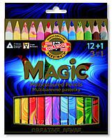 """Художественные карандаши с многоцветным грифелем  KOH-I-NOOR """"Magic"""" 12+1 цвет (3408013001KS)"""