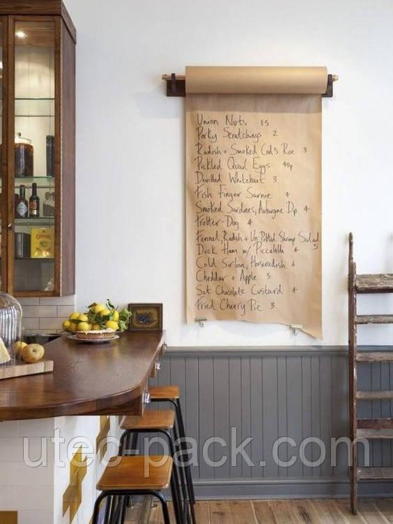 Порезка Крафтовой бумаги в рулоне для декора в ресторанах, барах, кафе