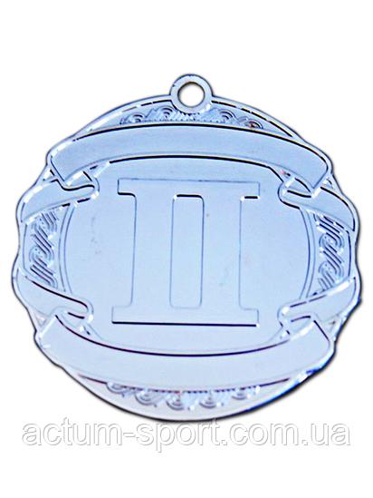 Медаль наградная 70 мм серебро