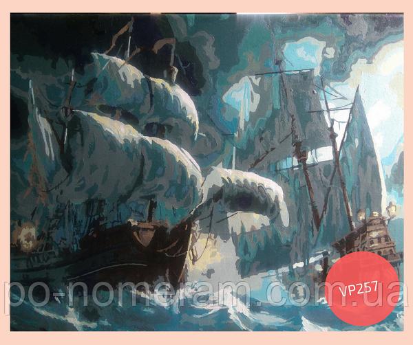 Картина по номерам Сражение кораблей