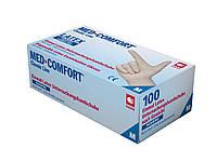 Перчатки латексные MED COMFORT без пудры премиум класса (100шт/уп)