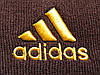 Шапка Adidas темно-коричневая с желтым логотипом (реплика), фото 3