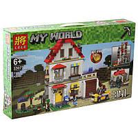 """Конструктор Lele 33077 """"Элитный частный дом 3 в 1"""" (аналог Lego Майнкрафт, Minecraft ), 738 дет"""
