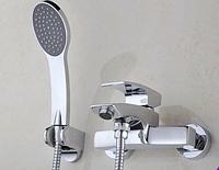 Смеситель для ванной комнаты с европереключателем на лейку 2-021, фото 1