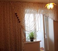 Тюль занавеска на окно с балконом