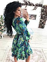 """Приталенное платье-миди """"Veleda"""" с декольте и длинным рукавом, фото 3"""
