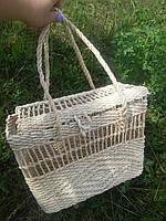 Пляжная сумка, плетеная еко сумка ручной работы