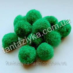 Помпон для рукоделия и декора 13-15мм, зеленый