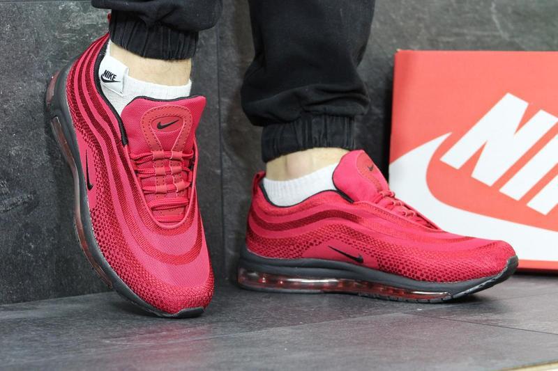 baa9e6b0 Мужские кроссовки в стиле Nike Air Max 97, красного цвета / кроссовки Найк  Аир Макс