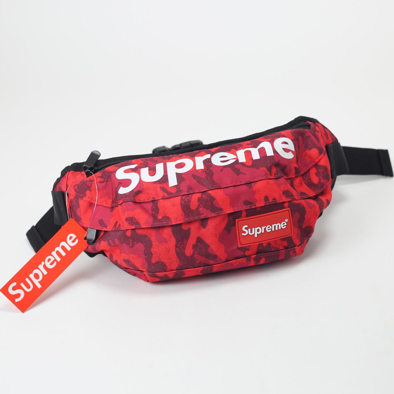 eaeacfd3e8a5 Поясная сумка Supreme Kamo Red реплика - Ataman Shop — Интернет-магазин  молодежной одежды в