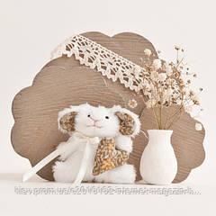 Мягкая игрушка авторской ручной работы Кролик пасхальный с сердцем