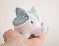 Мягкая игрушка авторской ручной работы слон белый  подушка для булавок, фото 1
