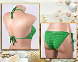 """Купальник, зеленый купальник вязаный крючком,  купальник - """"Love"""", фото 2"""