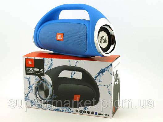 JBL Boombox mini (k836) 8W копия, Bluetooth колонка с FM MP3, синяя, фото 2