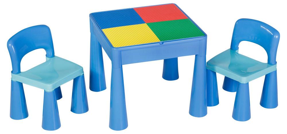 Стол и 2 стульчика Tega Mamut 899B синий-голубой
