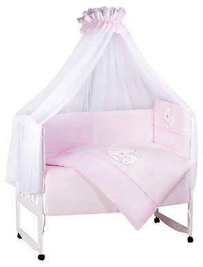 Детская постель TuttoLina Sleeping Bear (7 элементов) 52 розовый (мишка на подушке)