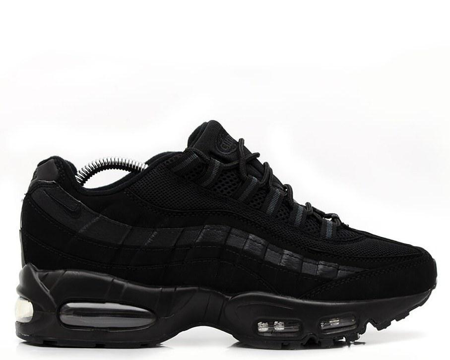 Мужские Кроссовки Найк Nike Air Max 95 Triple Black (Арт.0550) — в ... dd8610ee678