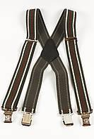 Подтяжки мужские унисекс широкие в полоску X40 Top Gal цвета в ассортименте