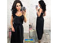 Женское длинное платье-сарафан с кружевом 29996