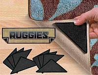 Держатели-липучки для ковров Ruggies, держатель для ковров Ruggies, комплект липучек для ковриков